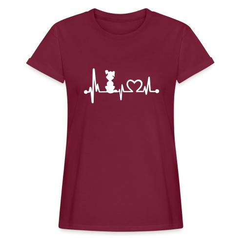 Vorschau: dog heart beat - Frauen Oversize T-Shirt