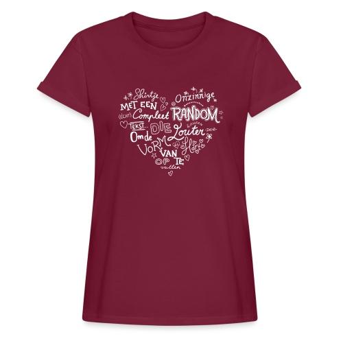 Hart - Vrouwen oversize T-shirt