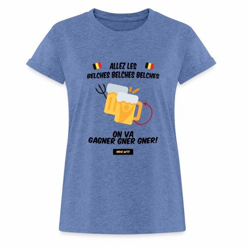allez belge Par MDR.WTF - T-shirt oversize Femme