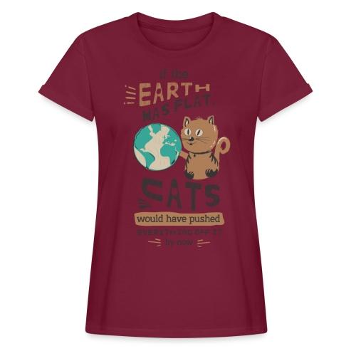 IF THE EARTH WAS FLAT - Oversize T-skjorte for kvinner