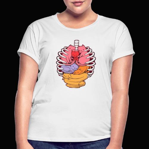 El cuerpo humano por dentro - Camiseta holgada de mujer