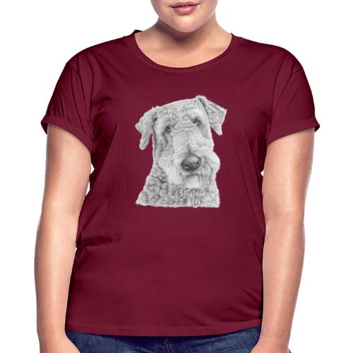 airedale terrier - Dame oversize T-shirt