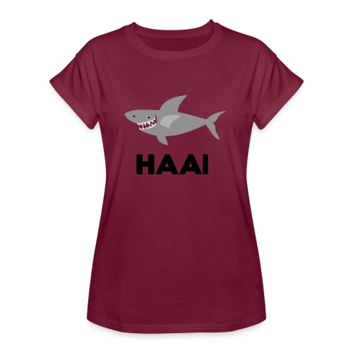 haai hallo hoi - Vrouwen oversize T-shirt