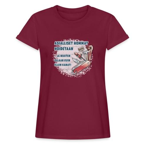 TYÖKALU todelliselle ammattilaisille, Tekstiilit.. - Naisten oversized-t-paita