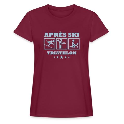 Apres Ski Triathlon | Apreski-Shirts gestalten - Frauen Oversize T-Shirt