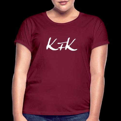 KFK logo blanco - Camiseta holgada de mujer