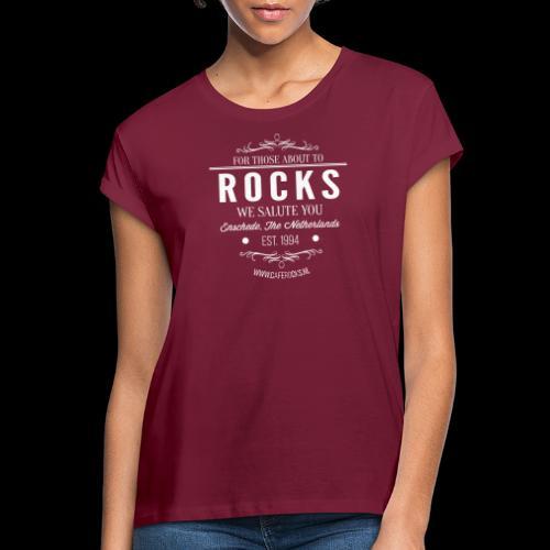 Vintage Rocks Label - Vrouwen oversize T-shirt