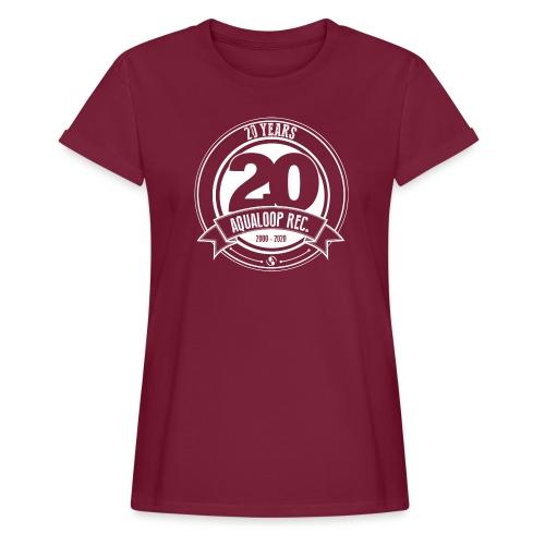 20 Years Aqualoop Records (white) - Women's Oversize T-Shirt