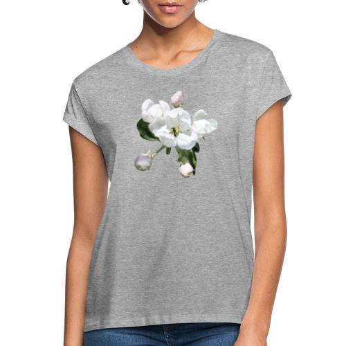 Omenankukka ja kukkakärpänen - Naisten oversized-t-paita
