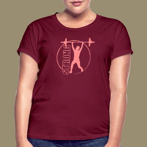 shirtsbydep strong - Vrouwen oversize T-shirt