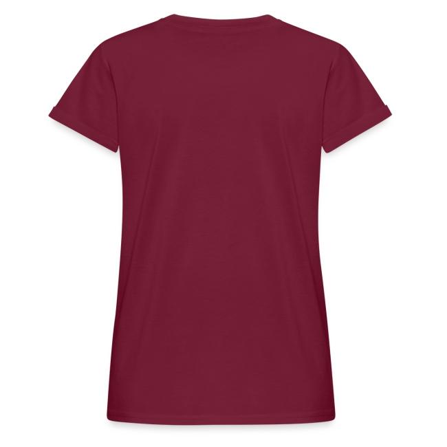 Vorschau: jumping horse white - Frauen Oversize T-Shirt
