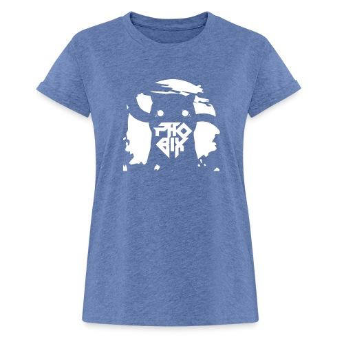 white 01big png - Frauen Oversize T-Shirt