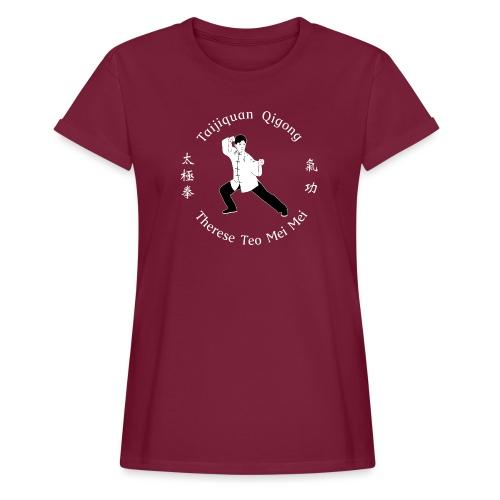 Teo Mei Mei White Logo - Oversize-T-shirt dam