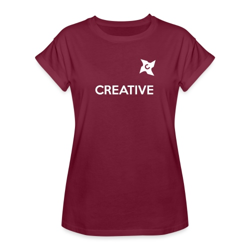 Creative simple black and white shirt - Dame oversize T-shirt