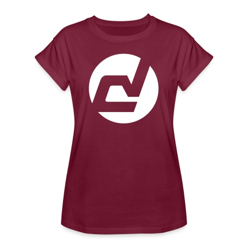 logo blanc - T-shirt oversize Femme