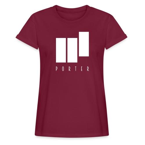 PORTER Sign White - Frauen Oversize T-Shirt