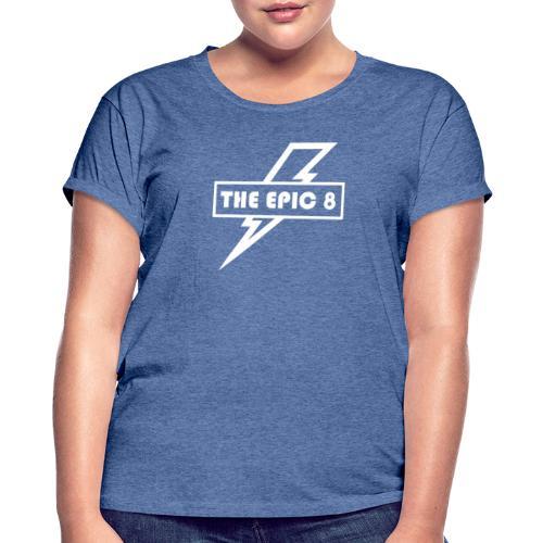 The Epic 8 - Valkoinen logo, iso - Naisten oversized-t-paita