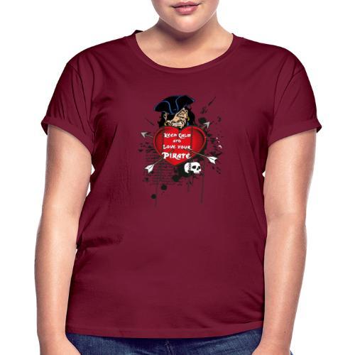 love your pirate - Maglietta ampia da donna