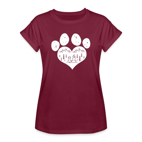 Vorschau: dog girl outdoor pawheart - Frauen Oversize T-Shirt