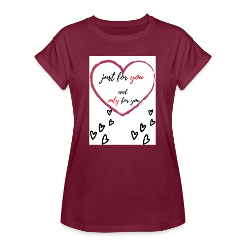 just for lovers design - Vrouwen oversize T-shirt