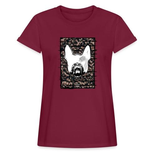 Französische Bulldogge Camouflage Silhouette - Frauen Oversize T-Shirt