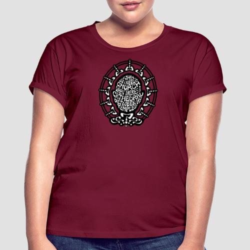 FREE THINKER (b/w) - Women's Oversize T-Shirt