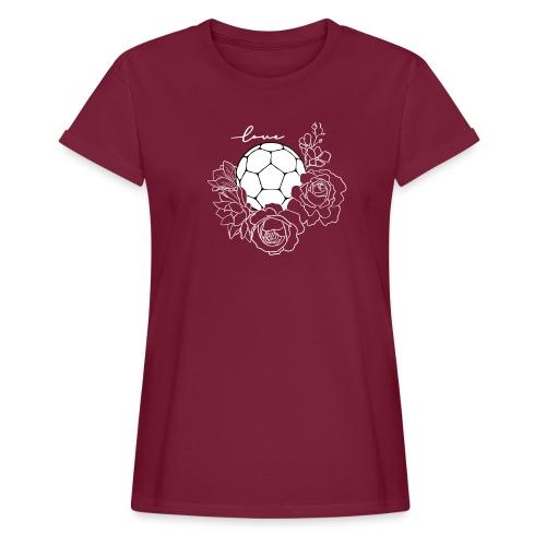 Handball Floral - Frauen Oversize T-Shirt