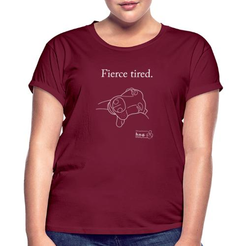 Fierce Tired Greyhound - Women's Oversize T-Shirt