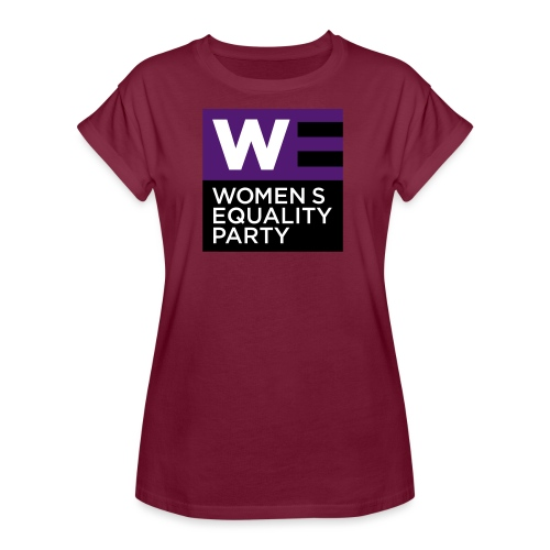 WE_LOGO_PURPLE_CMYK - Women's Oversize T-Shirt