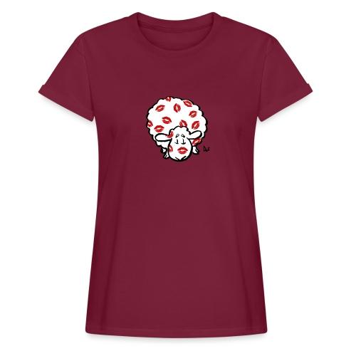 Kuss Mutterschaf - Frauen Oversize T-Shirt
