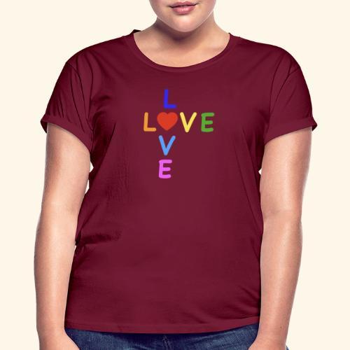 Rainbow Love. Regenbogen Liebe - Frauen Oversize T-Shirt