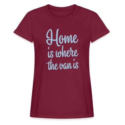camperhome01b - Oversize T-skjorte for kvinner