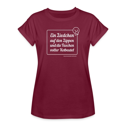 Liedchen weiss - Frauen Oversize T-Shirt