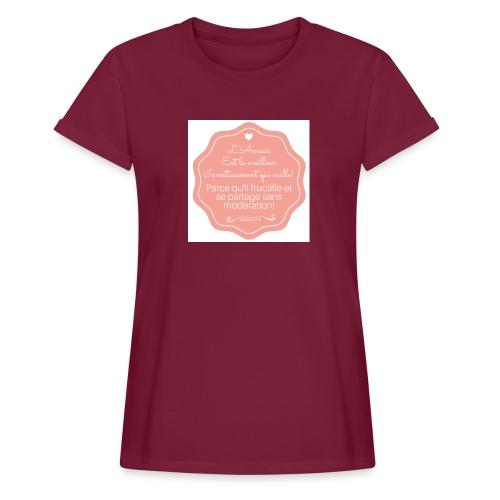 Amour - T-shirt oversize Femme