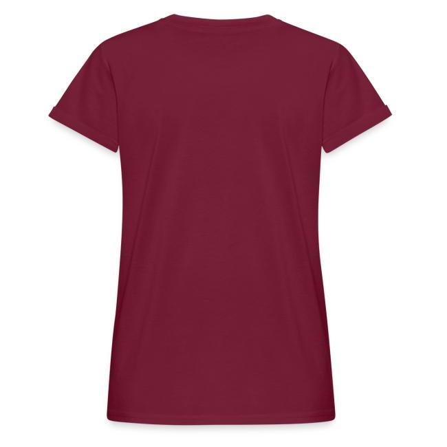Vorschau: ana vo uns zwa is bleda ois i - Frauen Oversize T-Shirt