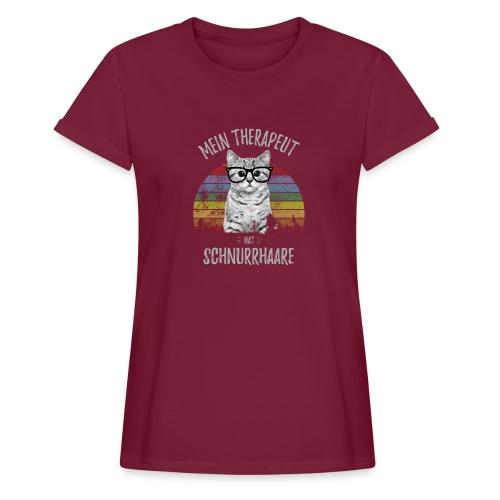 Vorschau: Therapeut Katze - Frauen Oversize T-Shirt
