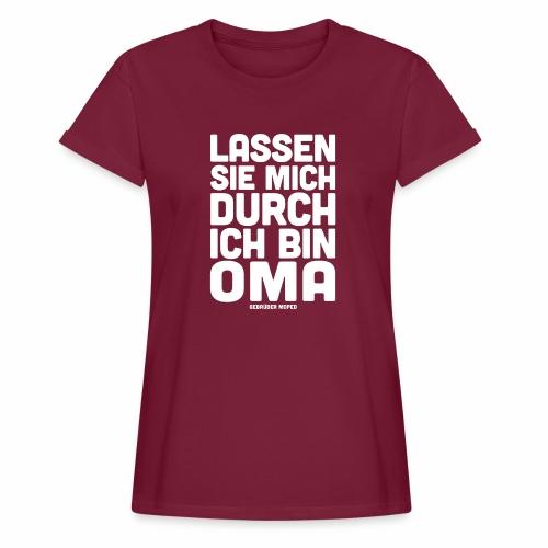 Oma - Frauen Oversize T-Shirt