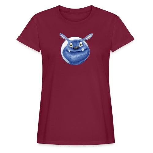 blaues Monster - Frauen Oversize T-Shirt