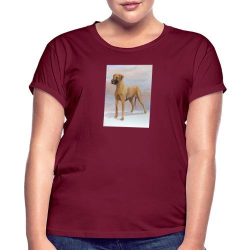 Great Dane Yellow - Dame oversize T-shirt