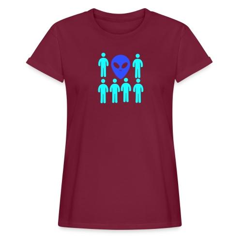 Extraterestre y Humano - Camiseta holgada de mujer
