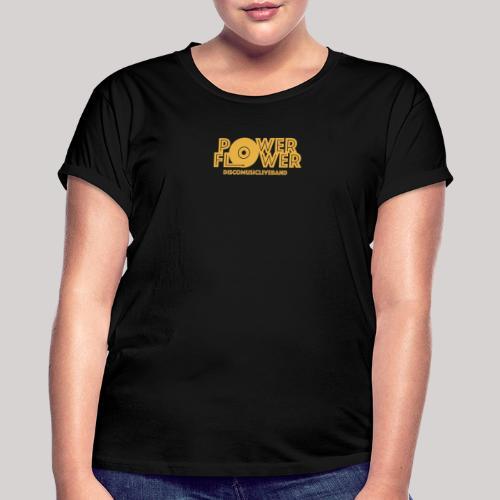 logo def PF 1colore giallo - Maglietta ampia da donna