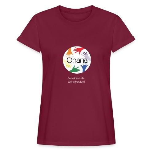 Logo mit weißem Text - Frauen Oversize T-Shirt