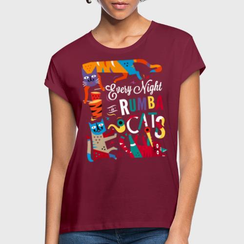 Chats Musique - Rumba salsa mambo - T-shirt oversize Femme