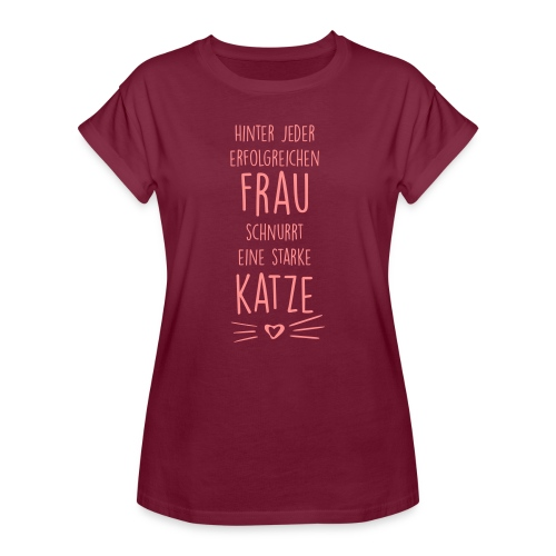 Vorschau: erfolgreiche frau - Frauen Oversize T-Shirt