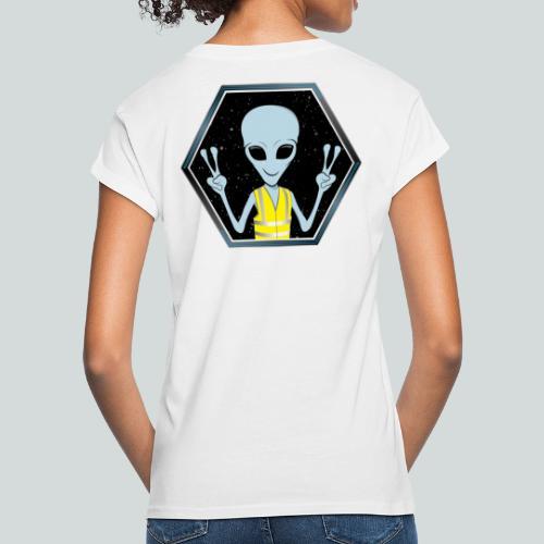 Extraterrestre Gilet jaune - T-shirt oversize Femme