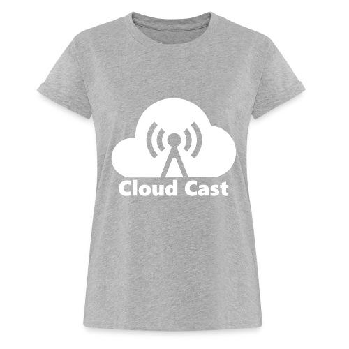 Cloud Cast White mit Schriftzug - Frauen Oversize T-Shirt