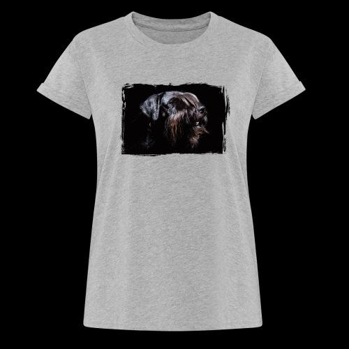 Schnauzerportrait - Frauen Oversize T-Shirt