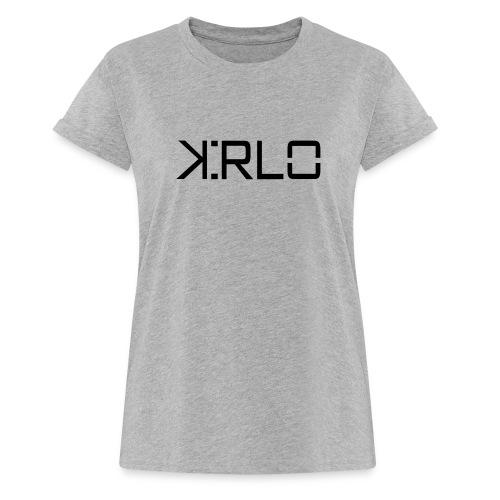 Kirlo Logotipo Negro - Camiseta holgada de mujer