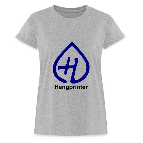 Hangprinter logo and text - Oversize-T-shirt dam