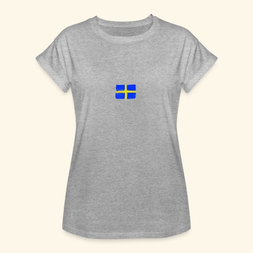 Swedish flag in Watercolours - Oversize-T-shirt dam